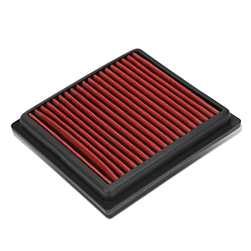 For Infiniti G35 / G37 / Nissan 350z / 370z Reusable & Washable Replacement High Flow Drop-in Air Filter (Red)