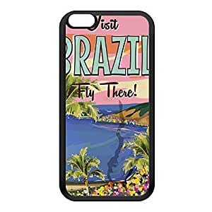 Brazil Black Silicon Rubber Case for iPhone 6 Plus by Nick Greenaway + FREE Crystal Clear Screen Protector