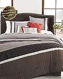 Emoji Bed Set Target Gatton Premium New Reversible 6 Piece Grey Queen Size Comforter Set | Style Collection Comforter-311012837