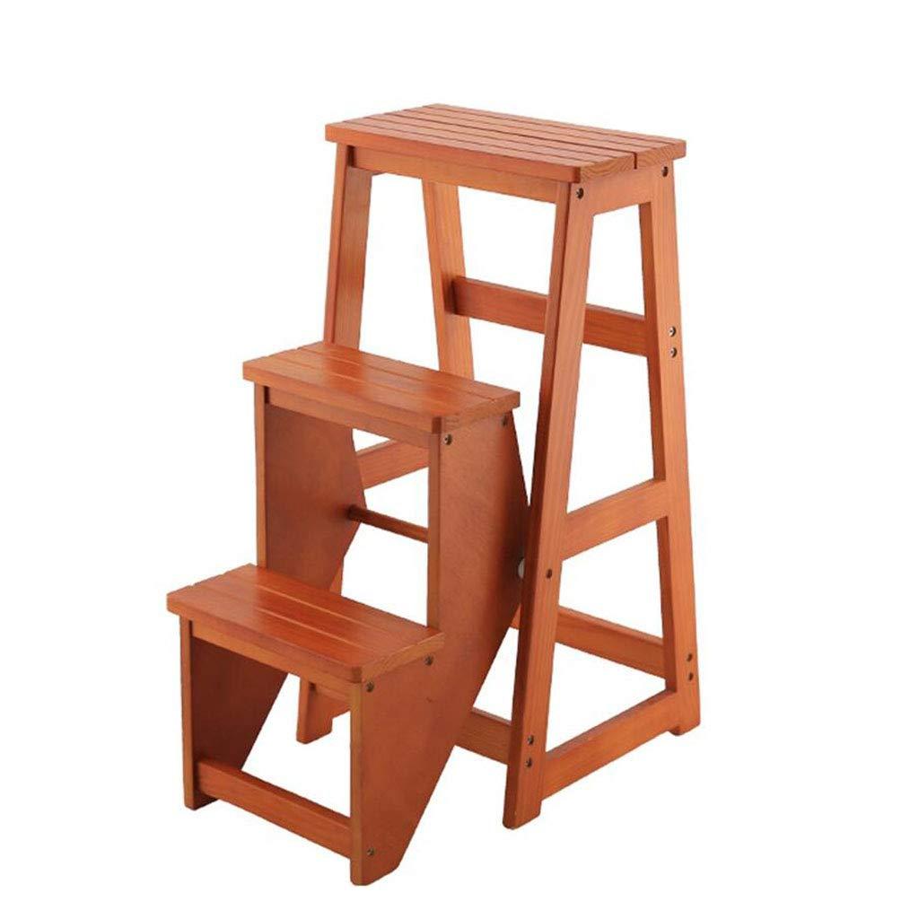 Compacta Taburete de la Escalera de Madera sólida de la ...