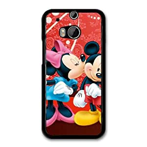 Disney Mickey Mouse Minnie Mouse O7V8FA3V Caso funda HTC One M8 Caso funda del teléfono celular Negro