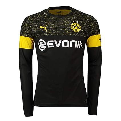 c3b53e52600 PUMA 2018-2019 Borussia Dortmund Away Long Sleeve Football Soccer T-Shirt  Jersey