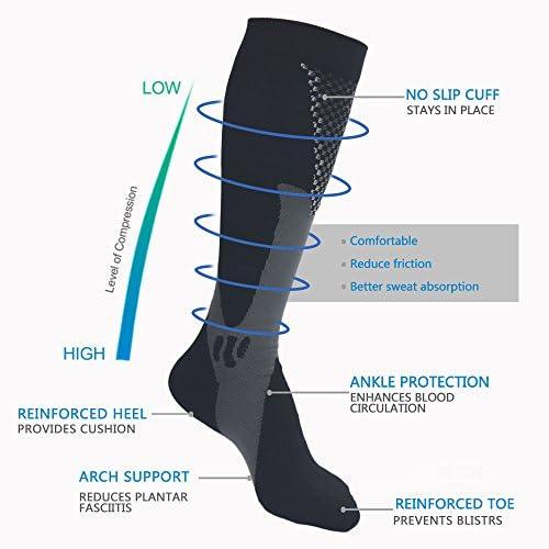 le football la course la cir le vol Compression Sock laugmentation des performances Chaussettes de compression par pour hommes et femmes running biologiques ajustement pour le sport lendurance