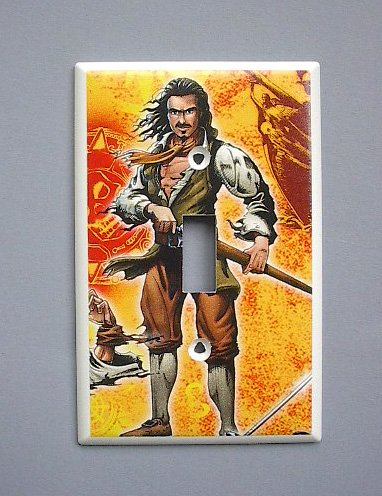 Pirates of the Caribbean Orlando Bloom Will Turner Single Switch Plate - Caribbean Orlando Store