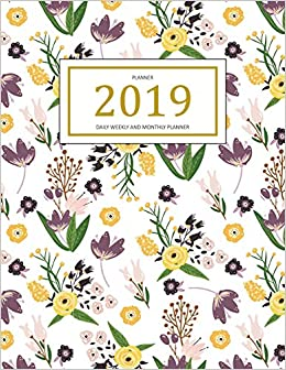 2019 planner weekly and monthly a year 365 daily 52 week journal planner calendar schedule organizer appointment notebook monthly planner to do gratitude book pink cover volume 1