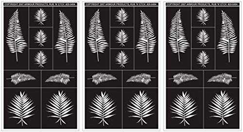 Armour Rub N Etch Designer Stencils 5 X 8 Fern Designs (12 ()