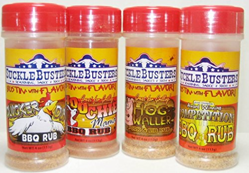 SuckleBusters BBQ Rubs Seasoning Variety Pack (4 Pack)