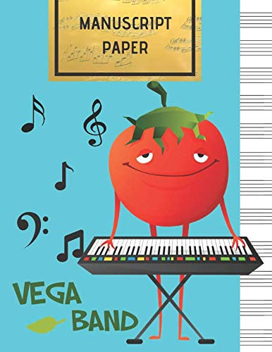 MANUSCRIPT PAPER: Vega Band Blank Sheet Music Notebook, 108 Pages of Staff Paper, 12 Staves per Page