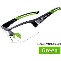 ELEOPTION Sports Sunglasses Photochromic Cycling Glasses Discoloration Glasses MTB Road Bike Sport Sunglasses Anti-UV for Men Women Cycling Running Driving Fishing Golf Baseball Glasses
