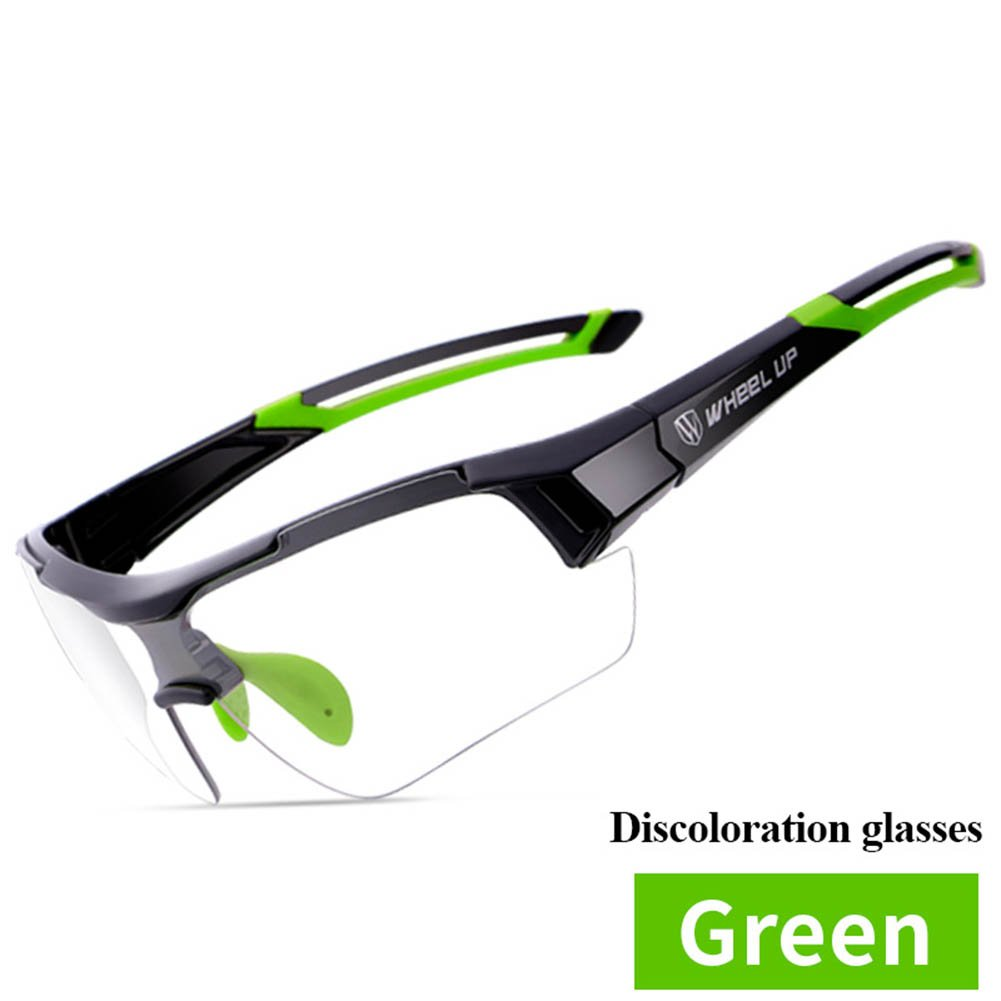 TOPCHANCES Professional Sports Cycling Sunglasses Riding Running Hiking Skiing or Fishing Glasses for Men Women (Green)