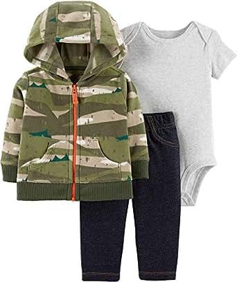 Carter's Baby Boys` 3-Piece Little Jacket Set, Camo, Newborn