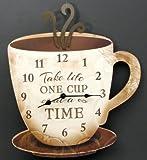 IWGAC 049-14098 Coffee Clock Take Life One Cup At A Time