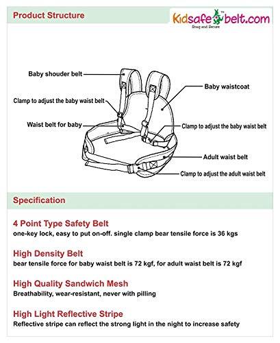 Kidsafe Belt - Two Wheeler Child Safety Belt - Cool Pink Butterfly by Kid-Safe (Image #6)