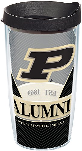 - Tervis 1224464 Purdue Boilermakers Alumni Tumbler with Wrap and Black Lid, 16 oz - Tritan, Clear
