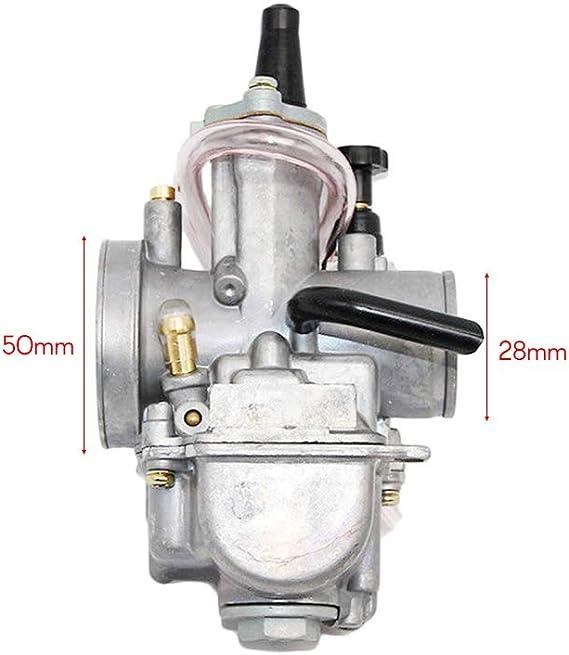 moto y dirt bike. ATV KKmoon Carburador de 28 mm PWK Power Jet para Scooter