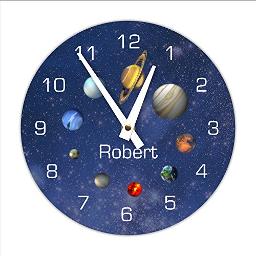 Personalized Decorative Outerspace Solar System Wall Clock