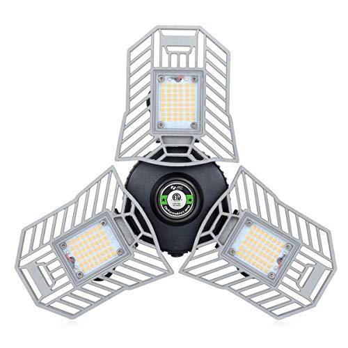 Garage Light 6000 Lm Deformable LED Garage Ceiling Lights 60W