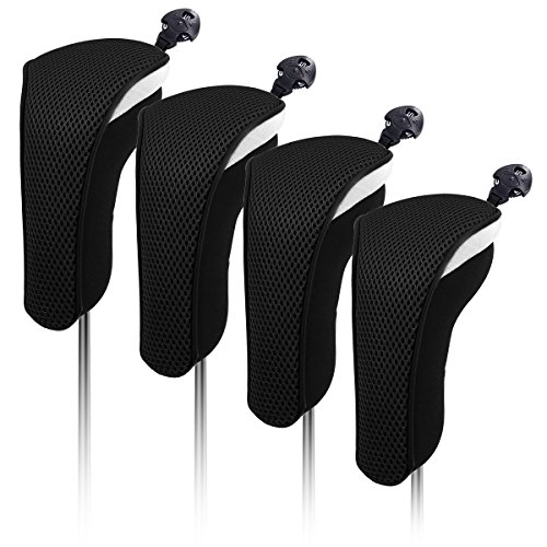 4X Thick Neoprene Hybrid Golf Club Head Cover Headcovers with Interchangeable Number Tags ()