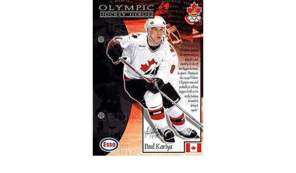 Amazon.com: (CI) Paul Kariya Hockey Card 1997-98 Esso Olympic Hockey