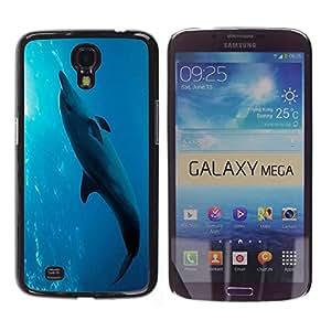 - Dolphins - - Fashion Dream Catcher Design Hard Plastic Protective Case Cover FOR Samsung Galaxy Mega 6.3 Retro Candy