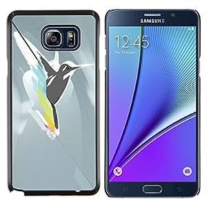 Queen Pattern - FOR Samsung Note 5 N9200 N920 - cool abstract bird hummingbird fly - Cubierta del caso de impacto con el patr???¡¯???€????€????&