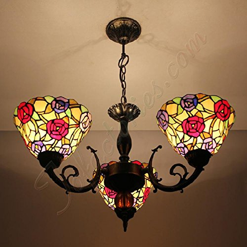 ETERN Continental Retro Small Floral Wedding Gift Lamp Chandeliers Pendant Light With 3 Lights
