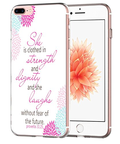 Iphone 7 Plus Case Bible Verse for Girls - Iphone 8 Plus Case - Topgraph [Soft Tpu Slim Fit Protective] Apple Iphone 7 Plus Iphone 8 Plus Protective Bumper Cover Christian Cheap