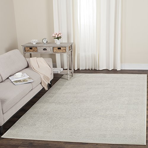 Safavieh Carnegie Collection CNG691C Vintage Cream and Light Grey Distressed Area Rug (5'1