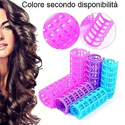 DOBO® Bigodini ad incastro capelli boccoli donna arricciare parrucchiere  acconciatura mossi ricci onde ondulato ( d001f4badab2