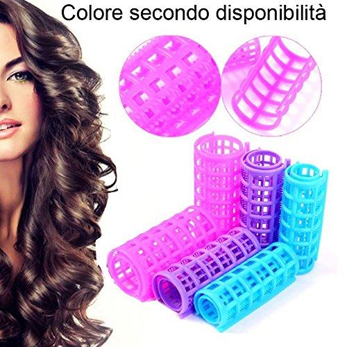 DOBO® Bigodini ad incastro capelli boccoli donna arricciare parrucchiere acconciatura mossi ricci onde ondulato (10x diametro 20mm)