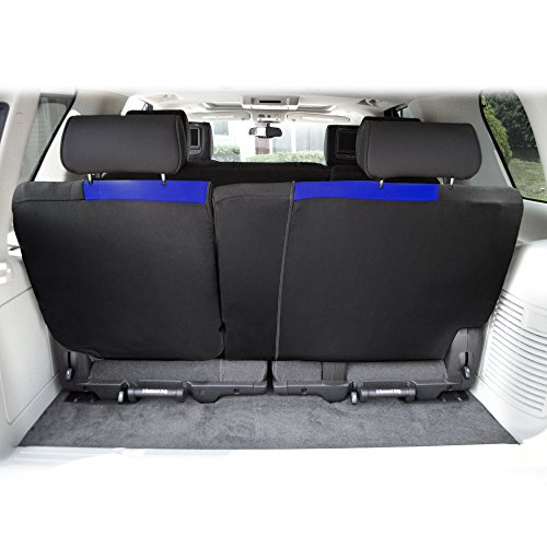 FH Group FB039013BLUE Blue FB039BLUE013 Multifunctional Cloth Split Seat (Full Coverage Car Bench Backrest is Covered on All Sides)
