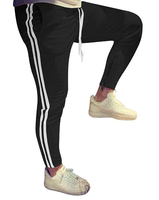 Tomwell Verano Casuales Moda Raya Largo Pantolones para Hombres ...