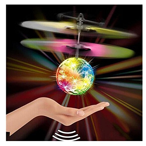Lisingtool Toys,Flying RC Ball Infrared Induction Mini Aircraft Flashing Light Remote Toys For Kids