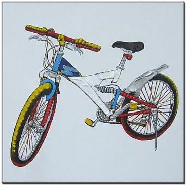 Pintado a mano de pintura al óleo pintura abstracta de bicicleta ...