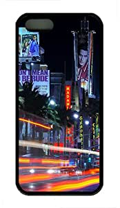 iPhone 5S Case,Downtown La TPU Custom iPhone 5/5S Case Cover Black
