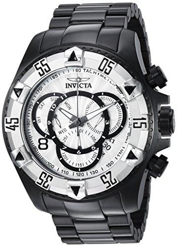Dial Excursion Black - Invicta Men's Excursion Quartz Watch with Stainless-Steel Strap, Black, 26 (Model: 24268