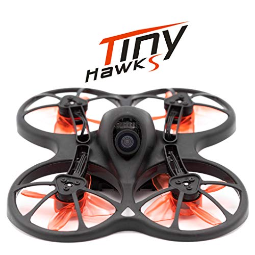 EMAX Tinyhawk S 1-2s Brushless Micro Indoor Racing Drone Whoop 75mm BNF FRSKY Ready to Fly FPV Beginners Durable Inverted Motors Full Acro Level Horizon Mode