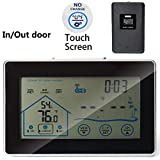 Touch Screen Wireless Weather Station Indoor Outdoor Temperarure Humidity Tester with Sensor