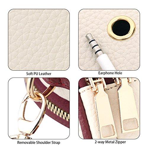 white Wallet Mini YIMOJI Girls Bags Cross Bag Black Shoulder Travel Cellphone Body Messenger Small Purse Bag Yx1qTwZC