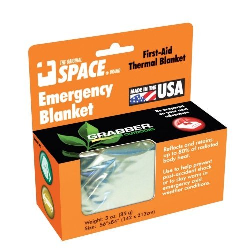 Emergency SPACE Blanket - Silver- 24 ct. by Grabber