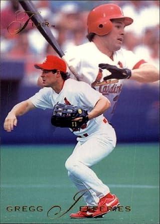 Amazoncom 1993 Flair Baseball Card 121 Gregg Jefferies Near Mint
