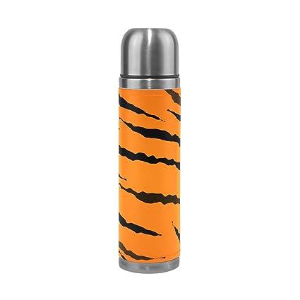 Amazon.com: DEYYA Tigre Texture - Botella de agua termo ...
