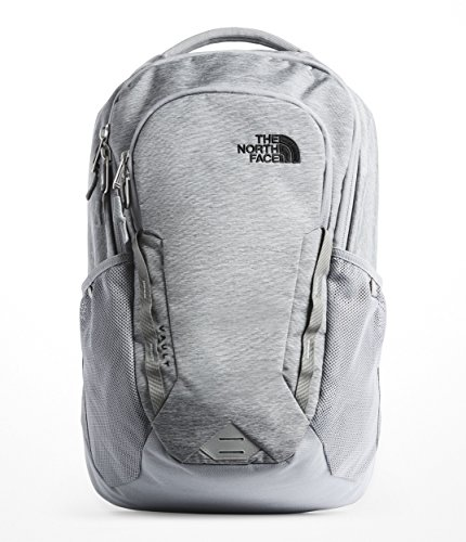 (The North Face Unisex Vault Backpack Mid Grey Dark Heather/Tnf Black One)