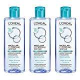 Cleansing Oil Loreal - L'Oreal Paris Micellar Cleansing Water, Oily Skin Facial Cleanser & Makeup Remover, 3 count