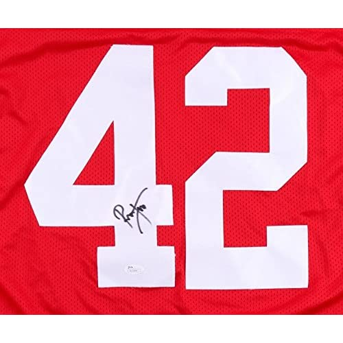 factory authentic 03de0 53064 Ronnie Lott Signed 49ers Jersey (JSA) 4 Super Bowl Champion ...