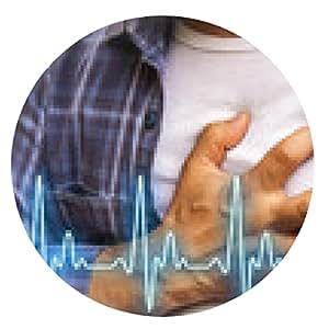 alfombrilla de ratón Hombres con dolor en el pecho - ataque al corazón - ronda - 20cm