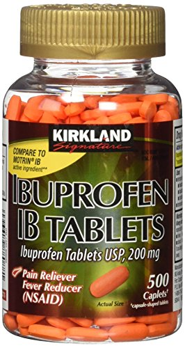 Kirkland Signature Ibuprofen IB Caplets - 500 Count (1 Bottle) - Good Sense Ibuprofen