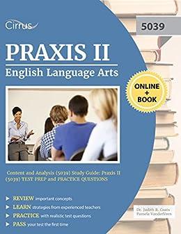 Amazon praxis ii english language arts content and analysis praxis ii english language arts content and analysis 5039 study guide praxis fandeluxe Images