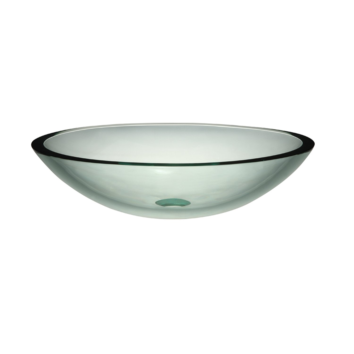 DECOLAV 1129T TCR Ela Translucence Oval 19mm Tempered Glass Vessel Sink   Transparent Crystal     Amazon com. DECOLAV 1129T TCR Ela Translucence Oval 19mm Tempered Glass Vessel
