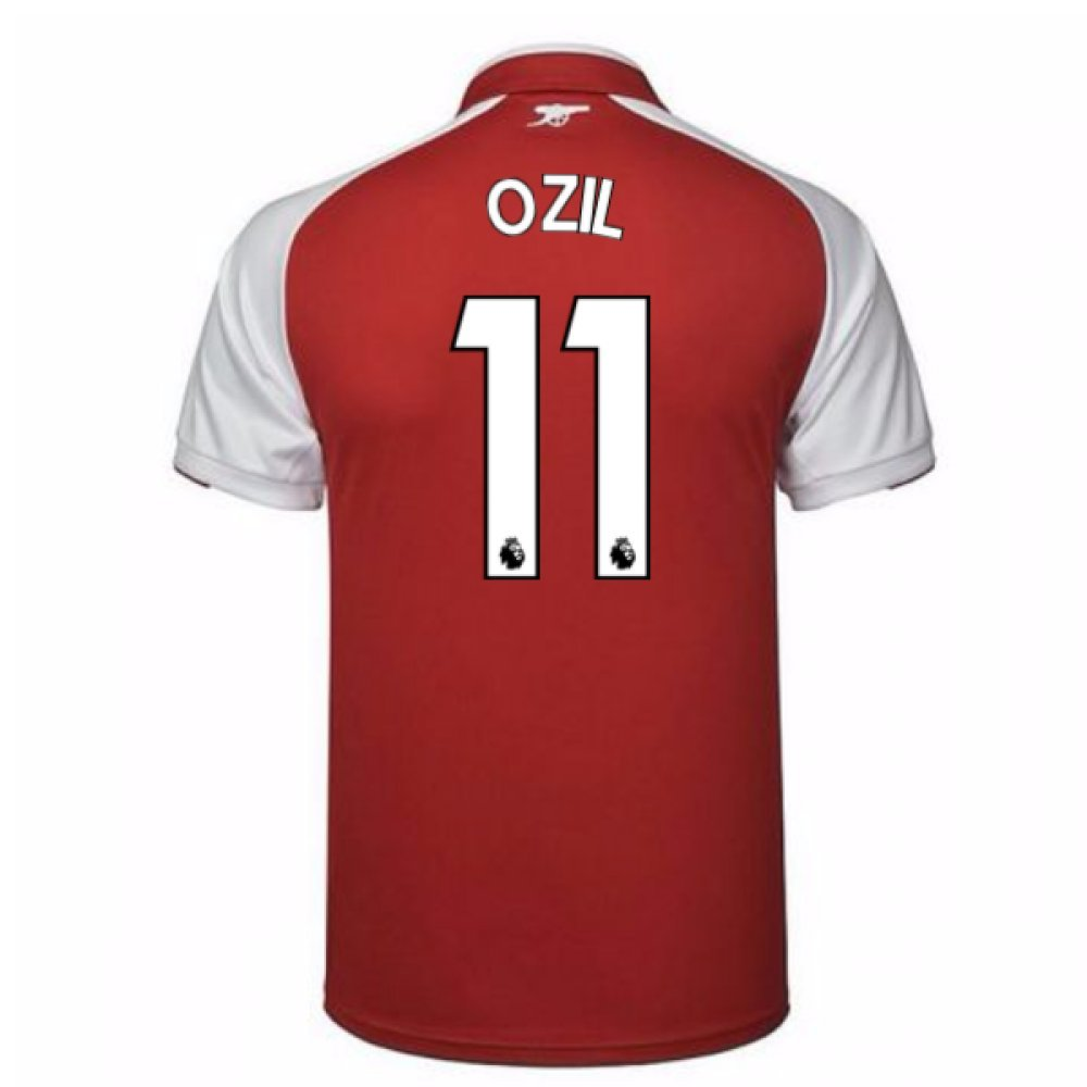 2017-18 Arsenal Home Shirt (Ozil 11) B0784BN1RC Large Adults|Red Red Large Adults
